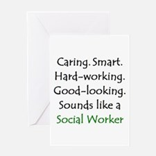 social worker sound Greeting Card