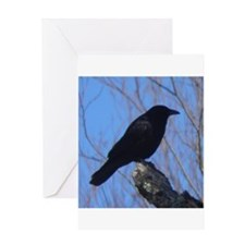 Crow silhouette Greeting Cards
