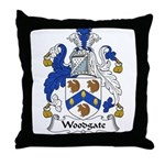 Woodgate Family Crest Throw Pillow