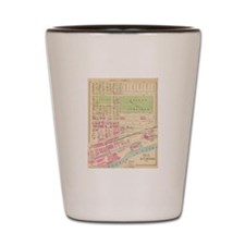 Vintage Map of Manchester NH (1892) (2) Shot Glass