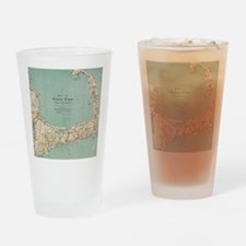Vintage Map of Cape Cod (1917) Drinking Glass