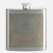 Vintage Map of Cape Cod (1917) Flask