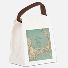 Vintage Map of Cape Cod (1917) Canvas Lunch Bag