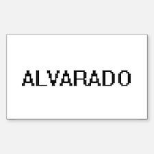 Alvarado digital retro design Decal