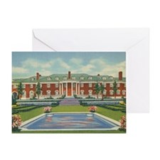 Vintage Spindletop Stock Farm Greeting Card