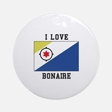 I love Bonaire Ornament (Round)