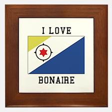 I love Bonaire Framed Tile