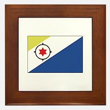 Bonaire, Flag Framed Tile