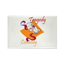 Tragedy or Comedy Rectangle Magnet (100 pack)