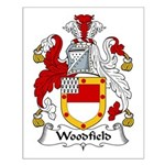 Woodfield Family Crest Small Poster