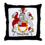 Woodfield Family Crest Throw Pillow