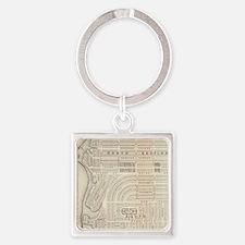Vintage Map of Marthas Vineyard (1 Square Keychain