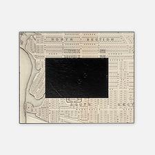 Vintage Map of Marthas Vineyard (187 Picture Frame