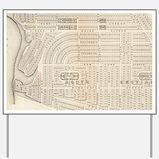 Vintage Map of Marthas Vineyard (1873) Yard Sign