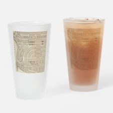 Vintage Map of Marthas Vineyard (18 Drinking Glass