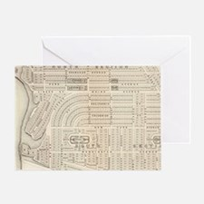 Vintage Map of Marthas Vineyard (187 Greeting Card
