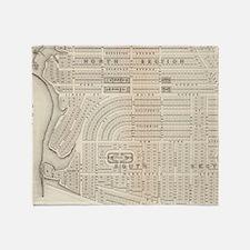 Vintage Map of Marthas Vineyard (187 Throw Blanket