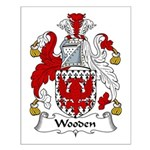Wooden Family Crest Small Poster