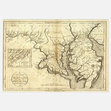 Vintage Map of Maryland (1796)