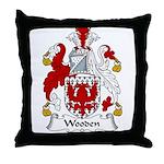 Wooden Family Crest Throw Pillow