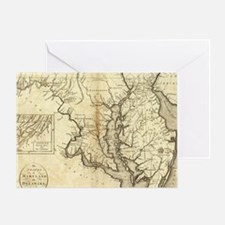 Vintage Map of Maryland (1796) Greeting Card