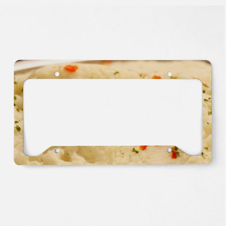 Mashed Potatoes License Plate Holder