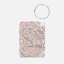 Vintage Map of Mechelen Be Keychains
