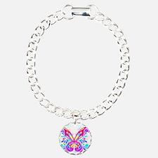 Decorative Butterfly 2 Charm Bracelet, One Charm