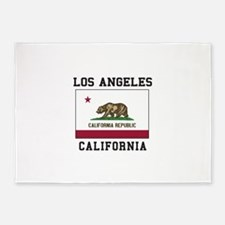 Los Angeles California Flag 5'x7'Area Rug