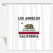 Los Angeles California Flag Shower Curtain