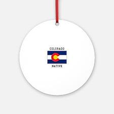 Colorado Native Ornament (Round)