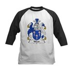 Wood Family Crest Kids Baseball Jersey