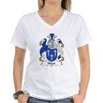 Wood Family Crest Women's V-Neck T-Shirt