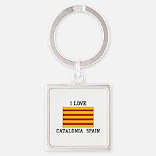 I Love Catalonia Spain Keychains