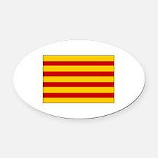 Catalonia Flag Spain Oval Car Magnet