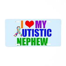 Autistic Nephew Aluminum License Plate