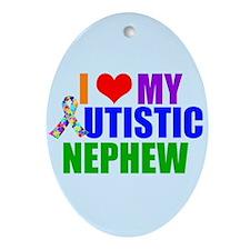 Autistic Nephew Ornament (Oval)