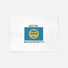 Boston, Massachusetts 5'x7'Area Rug