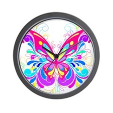 Decorative Butterfly 2 Wall Clock