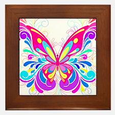 Decorative Butterfly 2 Framed Tile