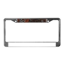 Abstract Cave Drawings License Plate Frame