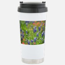 Red and Blue Stainless Steel Travel Mug