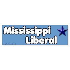 Mississippi Liberal Bumper Bumper Sticker