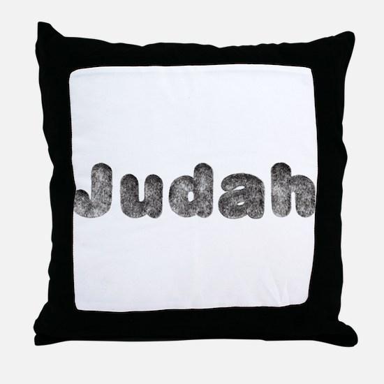 Judah Wolf Throw Pillow