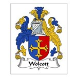 Wolcott Family Crest Small Poster