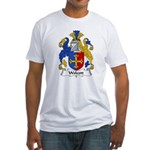 Wolcott Family Crest  Fitted T-Shirt