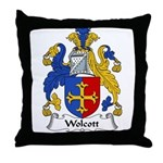 Wolcott Family Crest Throw Pillow