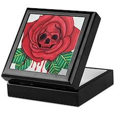 Skull Rose Keepsake Box