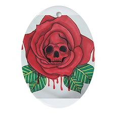 Skull Rose Ornament (Oval)