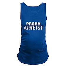 Proud Atheist Maternity Tank Top